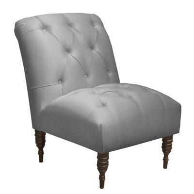 Arch Hill Shantung Tufted Slipper Chair Upholstery: Silver