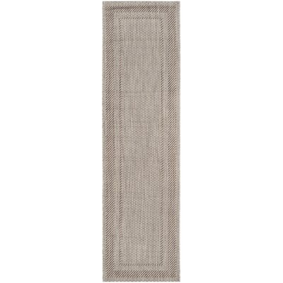 Rockbridge Beige/Brown Indoor/Outdoor Area Rug Rug Size: Rectangle 27 x 5