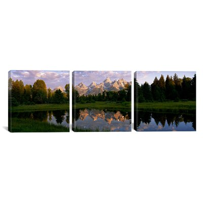 Grand Teton Park Wyoming, USA 3 Piece Photographic Print on Wrapped Canvas Set Size: 12