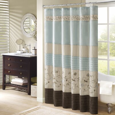 Elliott Shower Curtain Color: Blue, Size: 72 H x 72 W
