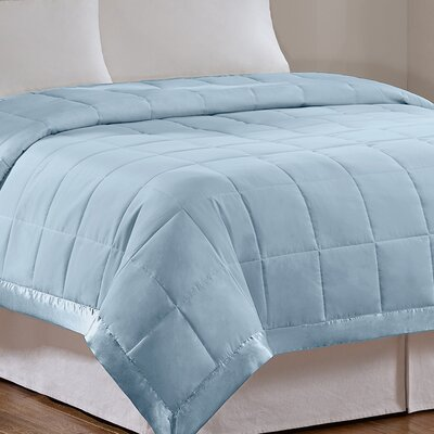 Elma Down Alternative Blanket Color: Blue, Size: Full / Queen