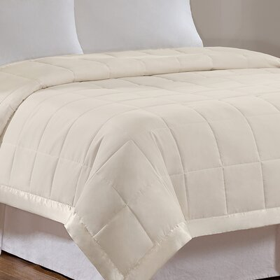 Elma Down Alternative Blanket Color: Ivory, Size: Full / Queen