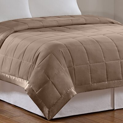 Elma Down Alternative Blanket Color: Mocha, Size: Full / Queen