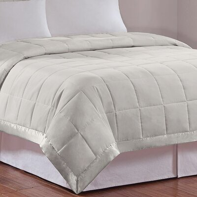 Elma Down Alternative Blanket Size: Full / Queen, Color: Grey