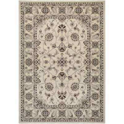 Myrtle Ivory Area Rug Rug Size: Rectangle 53 x 76
