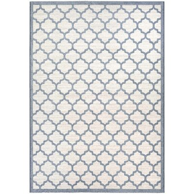 Goldsmith Oyster/Slate Blue Area Rug Rug Size: 53 x 76