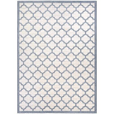 Goldsmith Oyster/Slate Blue Area Rug Rug Size: 92 x 129