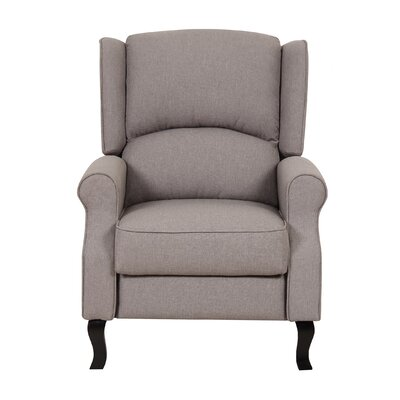 Emma Linen Fabric Recliner Color: Light Brown