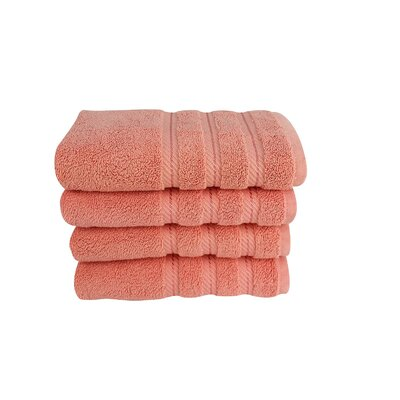 4 Piece Hand Towel Set Color: Lobster