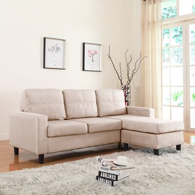 Emmons Reversible Sectional Upholstery: Beige