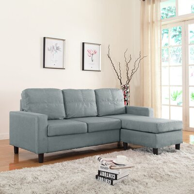 Emmons Reversible Sectional Upholstery: Light Grey