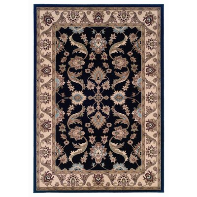 Enola Black/Cream Area Rug Rug Size: 5 x 8