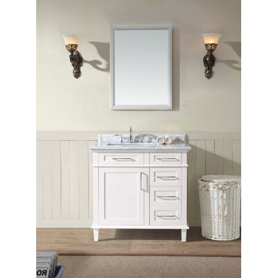 36 Single Bathroom Vanity Set Base Finish: White
