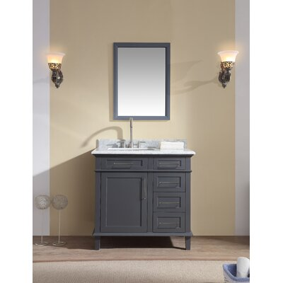 36 Single Bathroom Vanity Set Base Finish: Charcoal Gray