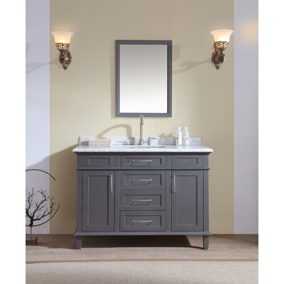 48 Single Bathroom Vanity Set Base Finish: Charcoal Gray