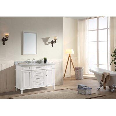 Ernest 48 Single Bathroom Vanity Set Base Finish: White