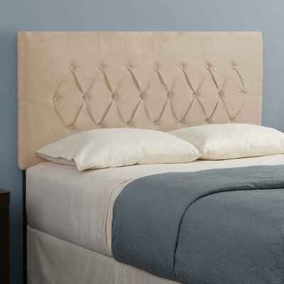 Dublin Upholstered Panel Headboard Size: Full, Upholstery: Grey
