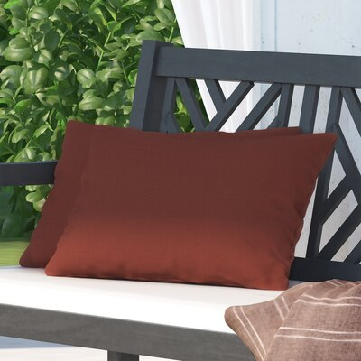 Hawkes Brook Outdoor Lumbar Pillow Color: Husk Texture Brick
