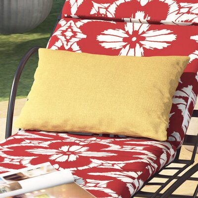 Hawkes Brook Outdoor Lumbar Pillow Color: Husk Texture Ginger