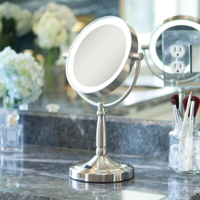 Cordless Dual-Sided LED Lighted Vanity Mirror