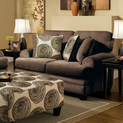 Leesburg Loveseat Upholstery: Chocolate