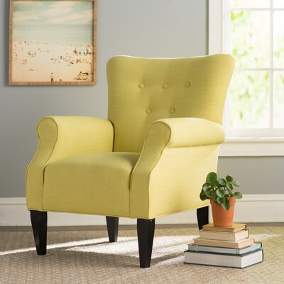 Delia Button Back Armchair Upholstery: Citrine Yellow