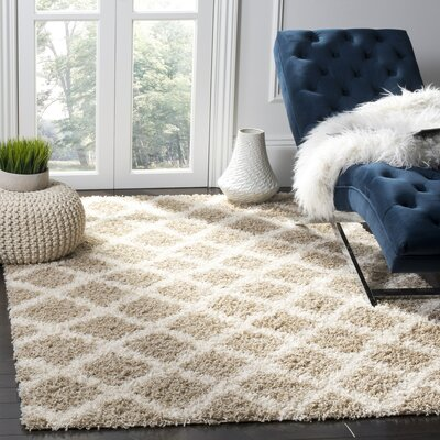 Laurelville Beige/Ivory Area Rug Rug Size: Rectangle 4 x 6