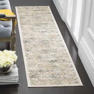 Van Andel Silver/Anthracite Area Rug Rug Size: Runner 2 x 8