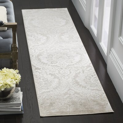 Van Andel Silver/Beige Area Rug Rug Size: Rectangle 26 X 4