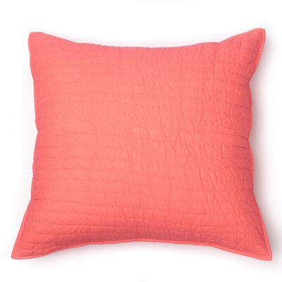 Hessville Sham Size: King, Color: Coral