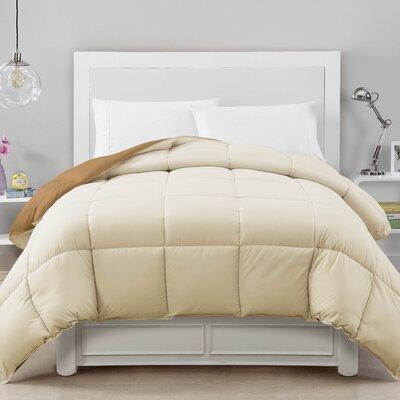 Caribbean Joe Comforter Color: Tan/Cream, Size: King