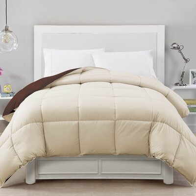 Caribbean Joe Comforter Color: Chocolate/Ivory, Size: King