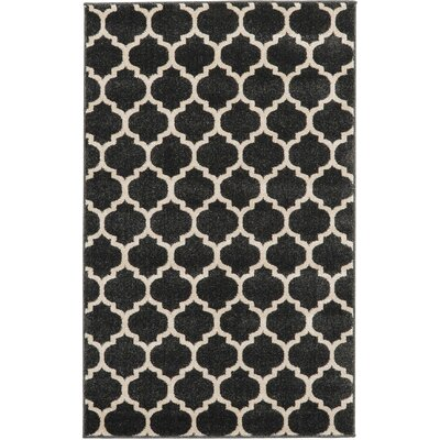 Emjay Black Area Rug Rug Size: Rectangle 6 x 9