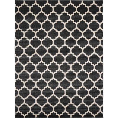 Emjay Black Area Rug Rug Size: Rectangle 9 x 12