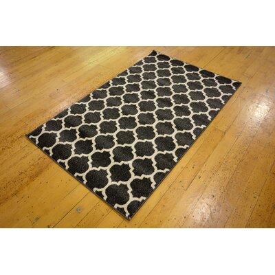 Emjay Black Area Rug Rug Size: 6 x 9