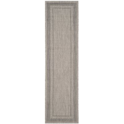 Rockbridge Beige/Black Indoor/Outdoor Area Rug Rug Size: Rectangle 27 x 5