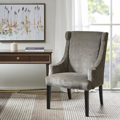 Farley High Back Wingback Chair Upholstrey: Charcoal