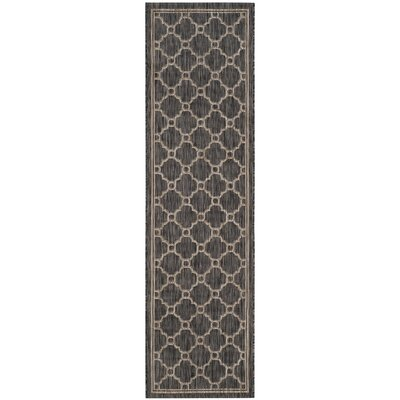 Rockbridge Natural/Black Indoor/Outdoor Area Rug Rug Size: Rectangle 27 x 5