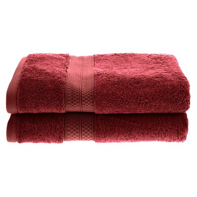 Patric Soft and Absorbent Bath Towel Color: Crimson