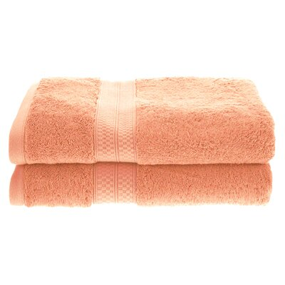 Hyde Rayon Soft and Absorbent Bath Towel Color: Salmon