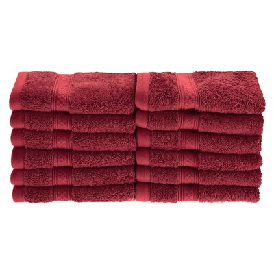 Patric Soft and Absorbent 12 Piece Wash Cloth Color: Crimson