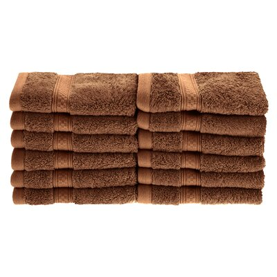 Patric Soft and Absorbent 12 Piece Wash Cloth Color: Cocoa