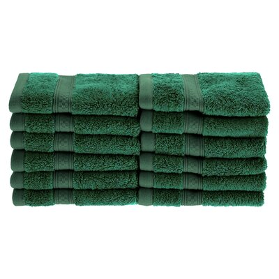 Patric Soft and Absorbent 12 Piece Wash Cloth Color: Hunter Green