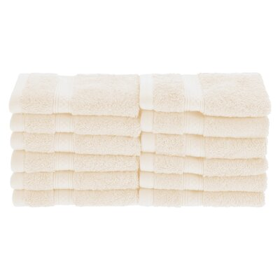 Patric Soft and Absorbent 12 Piece Wash Cloth Color: Ivory
