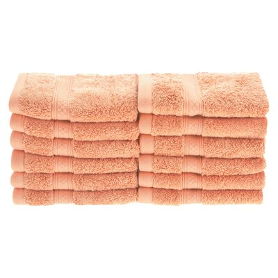Hyde Rayon Soft and Absorbent Wash Cloth Color: Salmon