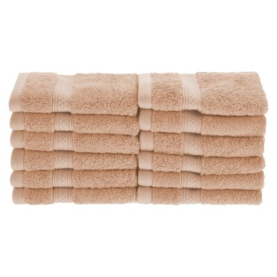 Patric Soft and Absorbent 12 Piece Wash Cloth Color: Sand