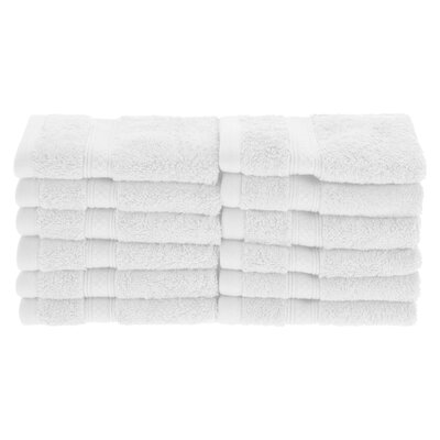 Patric Soft and Absorbent 12 Piece Wash Cloth Color: White
