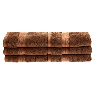 Patric 6 Pieces Hand Towel Set Color: Cocoa