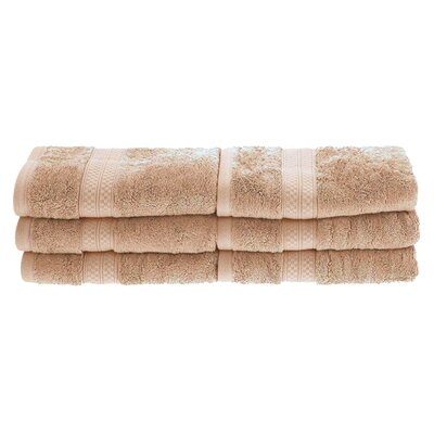 Patric 6 Pieces Hand Towel Set Color: Sand