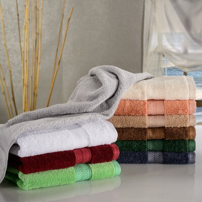 Hyde Rayon Soft and Absorbent Hand Towel Color: Salmon